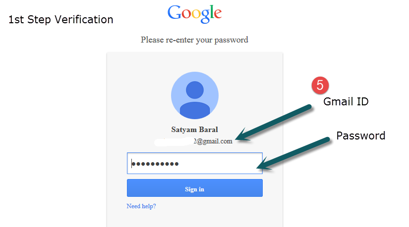 gmail first step verification