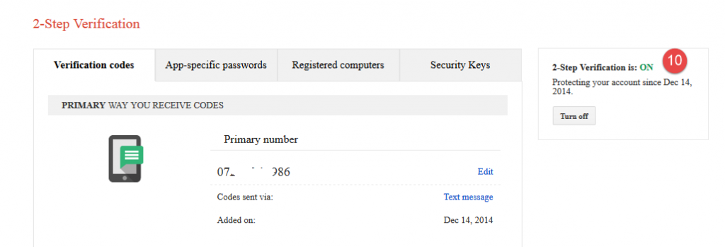 gmail two step verification 20