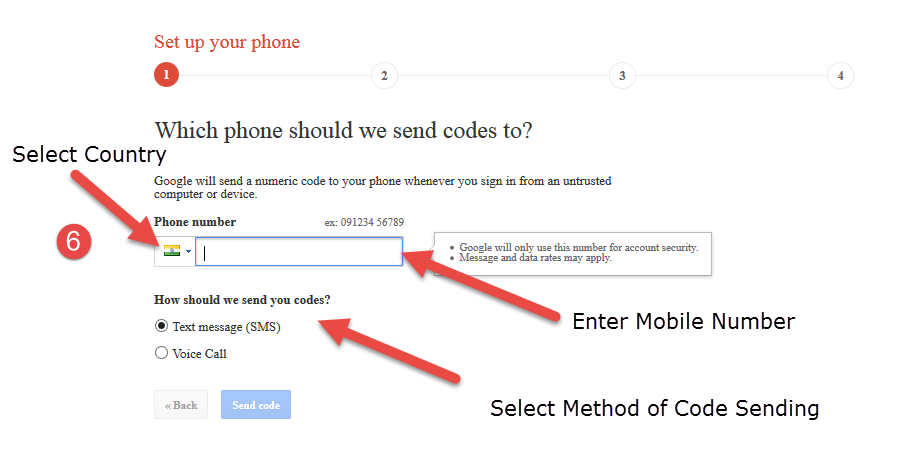 gmail two step verification 3