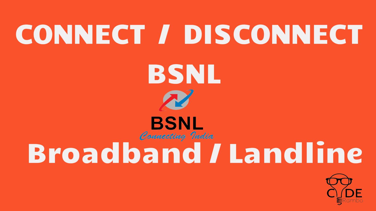 How to disconnectsurrender bsnl broadbandlandline online through how to disconnectsurrender bsnl broadbandlandline online through csc mechbit spiritdancerdesigns Gallery